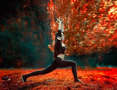 De herfst, yin seizoen met metaal element